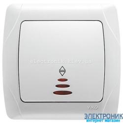 VIKO CARMEN БЕЛЫЙ Выключатель проходной с подсветкой
