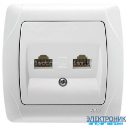 VIKO CARMEN БЕЛЫЙ Розетка двойная компьютерная