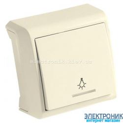 VIKO VERA КРЕМ Кнопочный выключатель с подсветкой