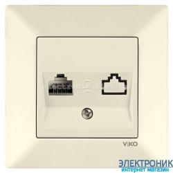VIKO MERIDIAN КРЕМ Розетка телефонная (RJ11, Cat 3)
