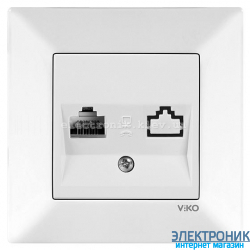 VIKO MERIDIAN БЕЛЫЙ Розетка телефонная (RJ11, Cat 3)