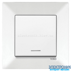 VIKO MERIDIAN БЕЛЫЙ Выключатель с подсветкой