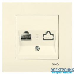 VIKO KARRE КРЕМ Розетка компьютерная