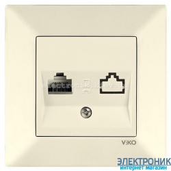 VIKO MERIDIAN КРЕМ Розетка компьютерная (Cat 5e)
