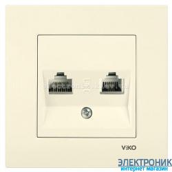 VIKO KARRE КРЕМ Розетка комплексная (компьютерная + телефонная)