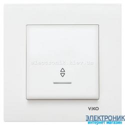 VIKO KARRE БЕЛЫЙ Выключатель проходной с подсветкой