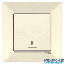 VIKO MERIDIAN КРЕМ Выключатель проходной с подсветкой