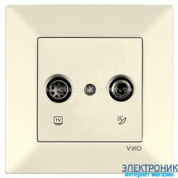 VIKO MERIDIAN КРЕМ Розетка двойная телевизионная (TV + SAT)