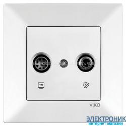 VIKO MERIDIAN БЕЛЫЙ Розетка двойная телевизионная (TV + SAT) 8Дб