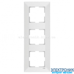 VIKO MERIDIAN БЕЛЫЙ Рамка 3-я вертикальная