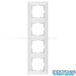 VIKO MERIDIAN БЕЛЫЙ Рамка 4-я вертикальная