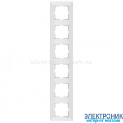 VIKO MERIDIAN БЕЛЫЙ Рамка 6-я вертикальная