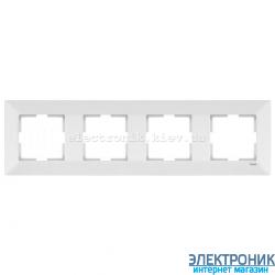 VIKO MERIDIAN БЕЛЫЙ Рамка 4-я горизонтальная