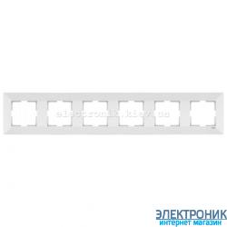 VIKO MERIDIAN БЕЛЫЙ Рамка 6-я горизонтальная