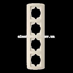 Рамка 4-кратная вертикальная, КРЕМ, EL-BI Zirve Fixline