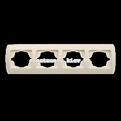 Рамка 4-кратная горизонтальная, КРЕМ EL-BI Zirve Fixline