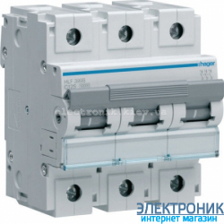 Автоматический выключатель Hager HLF399S. Iн=125А, 10кА, хар-ка С