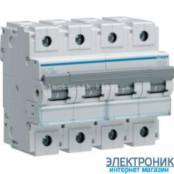 Автоматический выключатель Hager HLF490S. Iн=100А, 10кА, хар-ка С