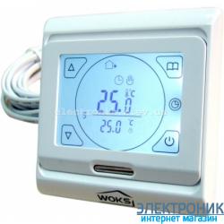 Терморегулятор Программируемый для теплого пола сенсорный Woks M 9.716(16А)