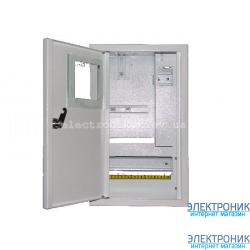 Щит учета и распределения «ЛОЗА» ШМР-1Фэ-10А-В+УЗО, металлический