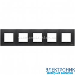Рамка 5 пост ABВ Zenit антрацит