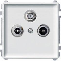 Розетка TV/R+SAT индив. Merten System Design полярно-белый