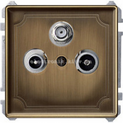 Розетка TV/R+SAT индив. Merten System Design Античная латунь