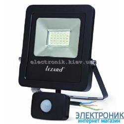 Светодиодный прожектор с датчиком движения 20W, IP65 6500K 1600Lm