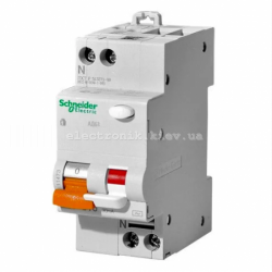 Дифавтомат  Schneider-Electric Домовой АД63 2П 16A 30МА