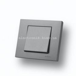 Выключатель одноклавишный Grano серебро