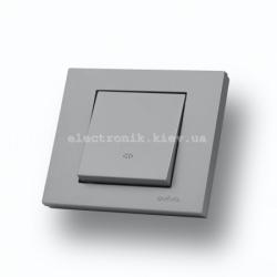Выключатель промежуточный Grano серебро
