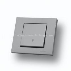 Выключатель проходной Grano серебро