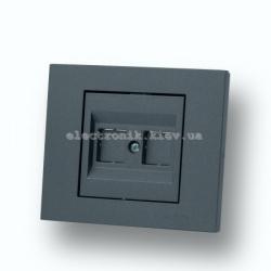 Розетка компьютерная (без коннектеров) Grano дымчатый
