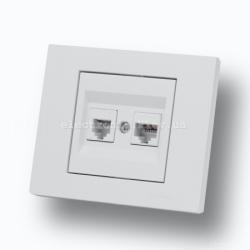 Розетка двойная компьютерная (разъем 2хRJ45 CAT 6) Grano