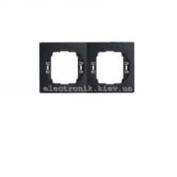 Рамка 2-ая  горизонтальная Aling Conel EON черный-черный