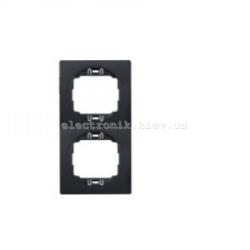 Рамка 2-ая вертикальная Aling Conel EON черный-черный