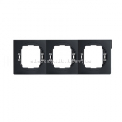 Рамка 3-ая горизонтальная Aling Conel EON черный-черный