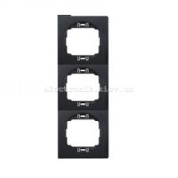 Рамка 3-ая вертикальная Aling Conel EON черный-черный