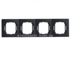 Рамка 4-ая  горизонтальная Aling Conel EON черный-черный