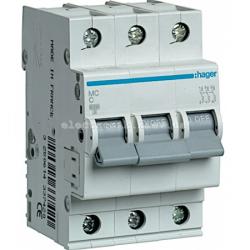 Выключатель автоматический Hager 3P C 10А MC310A