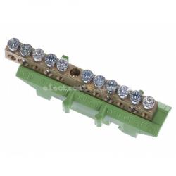 Клемма защитная с держателем 5x16+6x10мм2 Hager