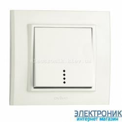 Выключатель MINA 1-й с подсветкой белый OVIVO