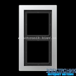Рамка 2-ая LS990 Design алюминий металл