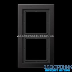Рамка 2-ая LS990 Design алюминий дарк металл