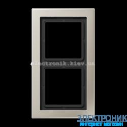 Рамка 2-ая LS990 Design нержавеющая сталь металл