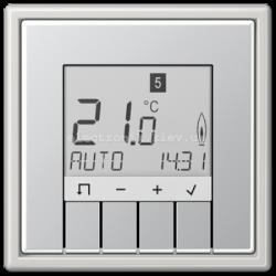Терморегулятор теплого пола электронный JUNG LS990 светло-серый