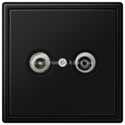 Розетка TV конечная JUNG LS990 черный матовый