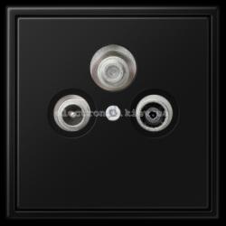 Розетка TV + SAT конечная JUNG LS990 черный матовый