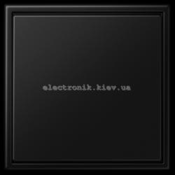 """Клавишный диммер """"универсал"""" ЛН, ВВ галог. 20-420Вт / люминисц.  3-100Вт, LED 100/200Вт JUNG LS990 черный матовый"""