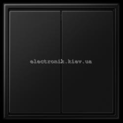 Выключатель двухклавишный JUNG LS990 черный матовый